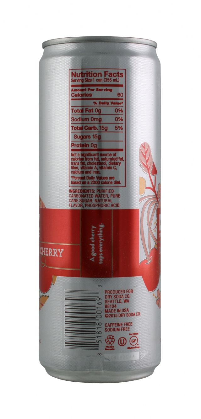 DRY Sparkling: DrySparkCan RainCherry Facts
