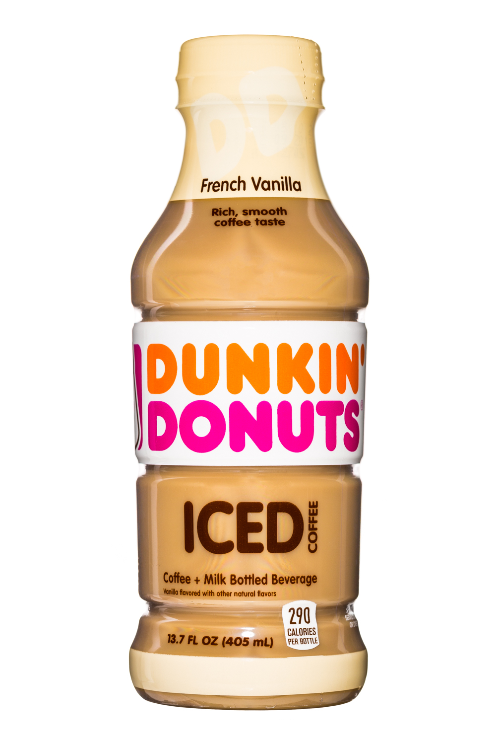 Dunkin Donuts Iced Coffee: DunkinDonuts-13oz-IcedCoffee-Vanilla-Front