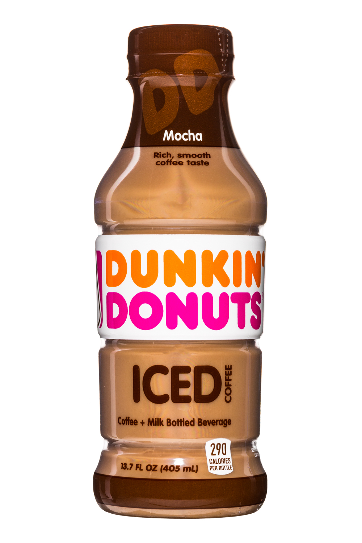 Dunkin Donuts Iced Coffee: DunkinDonuts-13oz-IcedCoffee-Mocha-Front