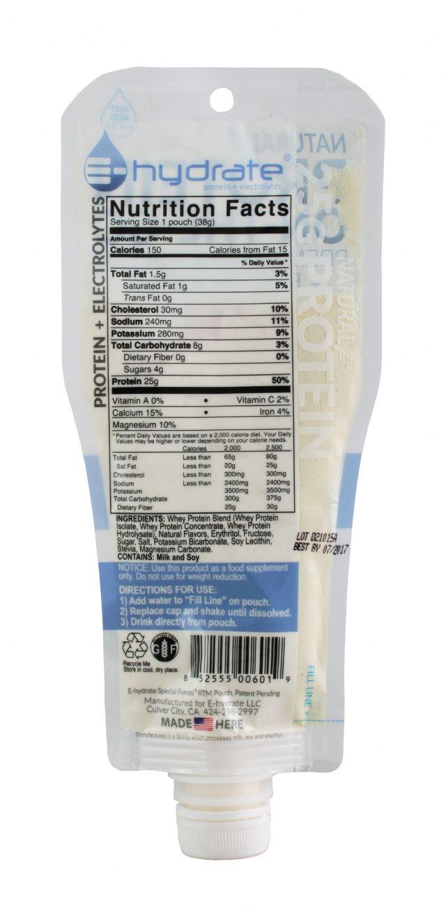 E-hydrate: Hydrate Vanilla Facts
