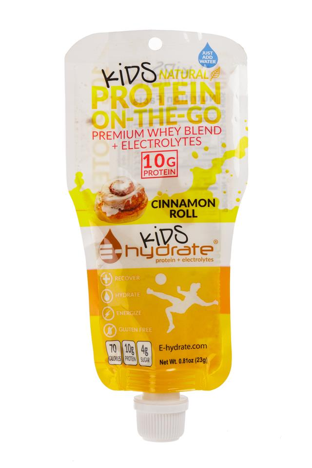 E-hydrate: EProtein-ProteinOnTheGo-Kids-CinnamonRoll-Front