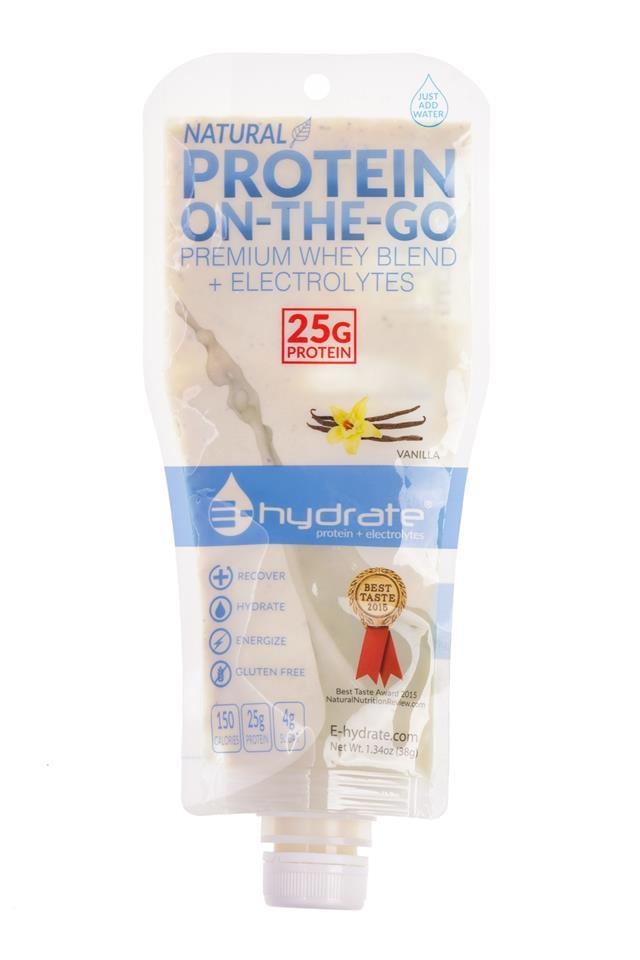 E-hydrate: E-Hydrate-ProteinOnTheGo-Vanilla-Front