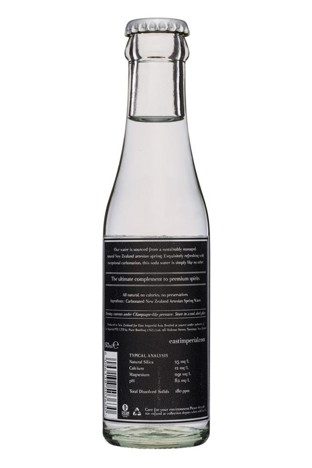 East Imperial: EastImperial-150ml-SodaWater-Facts