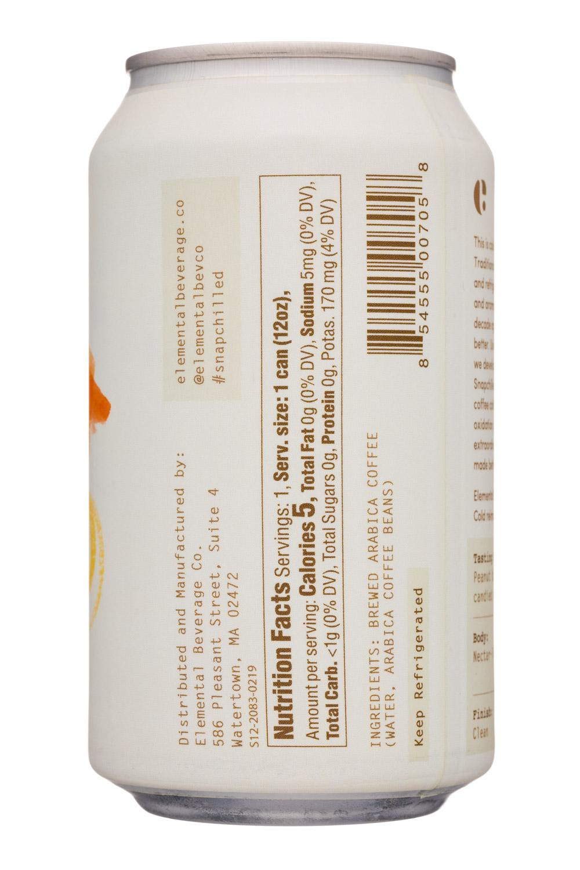 Elemental Beverage Co.: ElementalBeverageCo-12oz-SnapchilledCoffee-Colombia-Facts