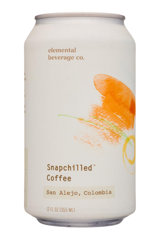 Elemental Beverage Co.: ElementalBeverageCo-12oz-SnapchilledCoffee-Colombia-Front