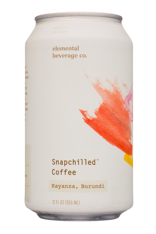 Elemental Beverage Co.: ElementalBeverageCo-12oz-SnapchilledCoffee-Burundi-Front