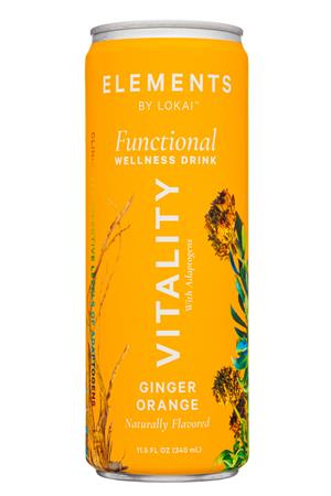 Elements by Lokai: ElementsByLokai-12oz-2020-WellDrink-Vitality-Front