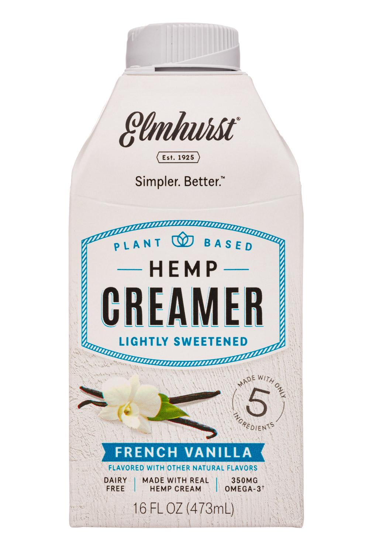 Elmhurst: Elmhurst-16oz-HempCreamer-LightSweet-FrenchVanilla-Front