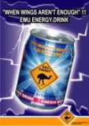 poster of the Emu Energy drink can seen in Yemen