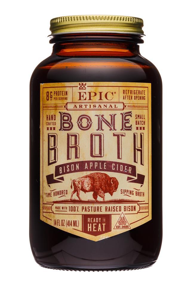 Epic Bone Broth: Epic-14oz-BoneBroth-BisonAppleCider-Front