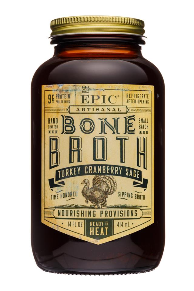 Epic Bone Broth: Epic-14oz-BoneBroth-TurkeyCranSage-Front
