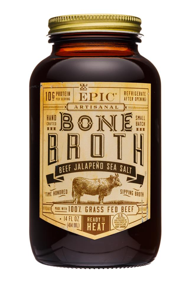 Epic Bone Broth: Epic-14oz-BoneBroth-BeefJalapenoSeaSalt-front