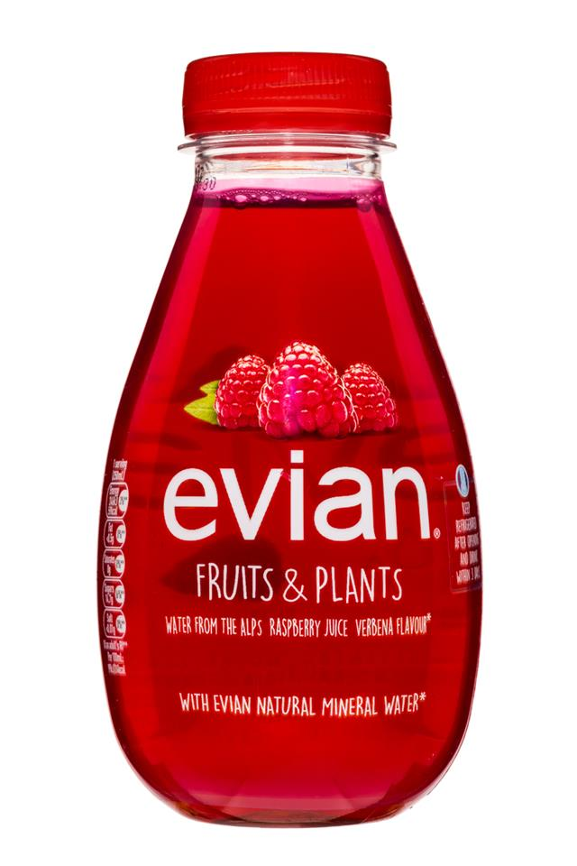 Evian: Evian-FruitsPlants-RaspberryVerbena-Front
