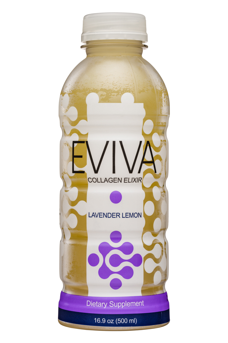 Eviva: Eviva-17oz-CollagenElixer-LavenderLemon-Front