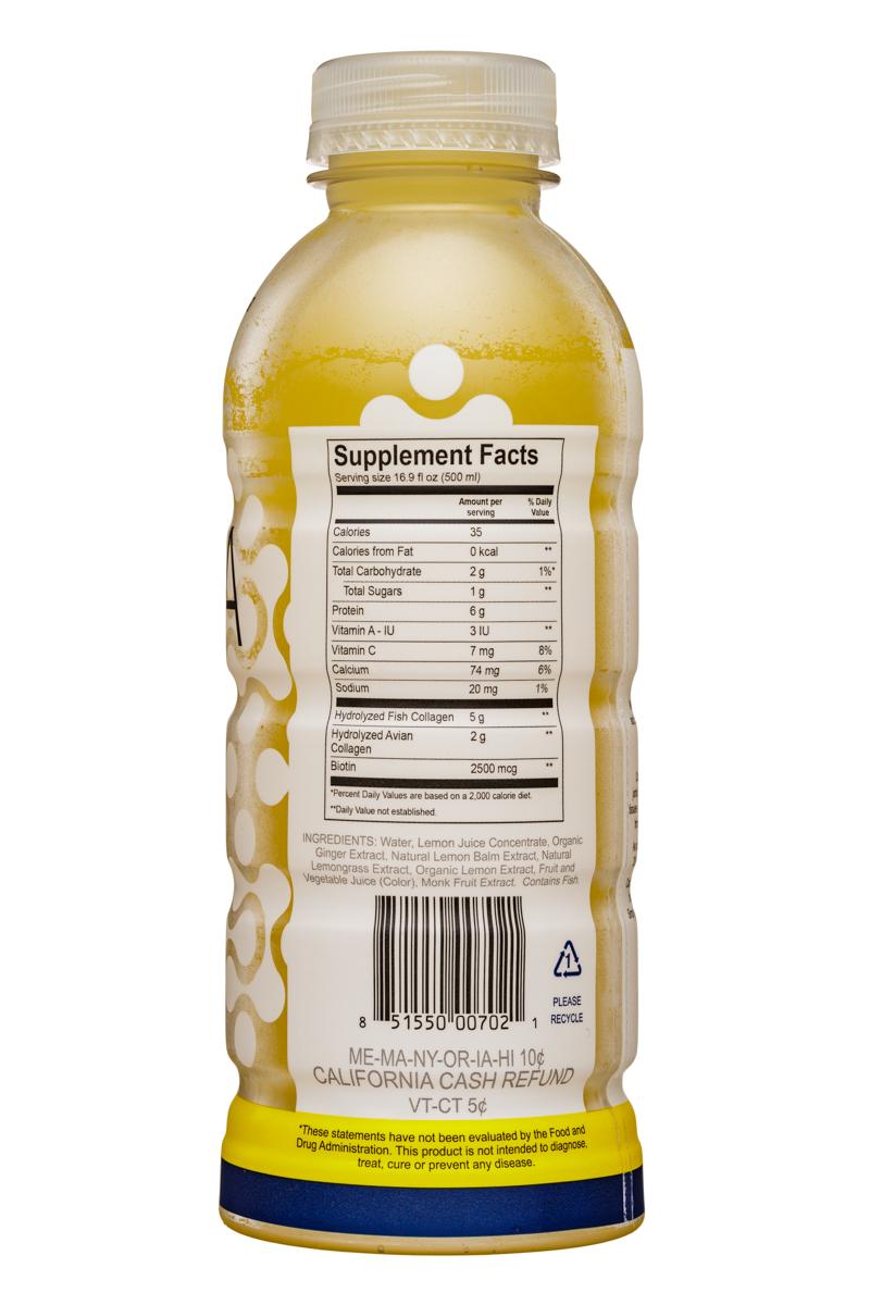 Eviva: Eviva-17oz-CollagenElixer-LemongrassGinger-Facts