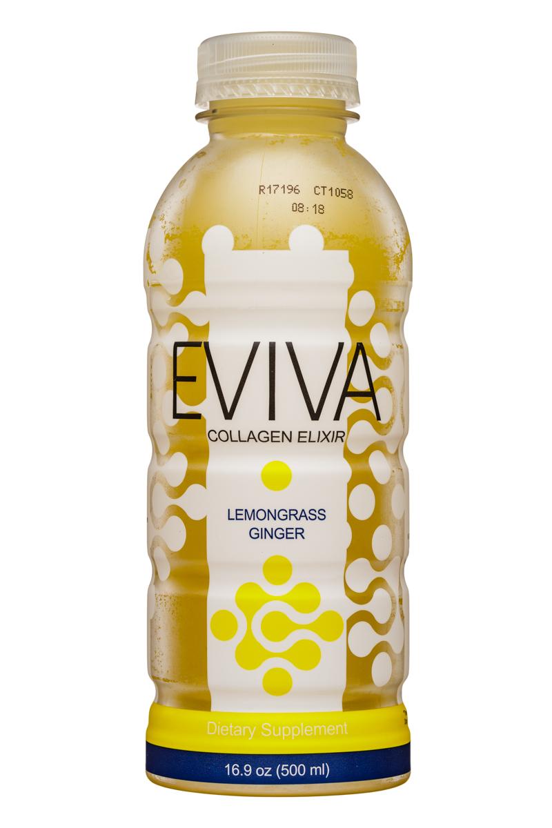 Eviva: Eviva-17oz-CollagenElixer-LemongrassGinger-Front