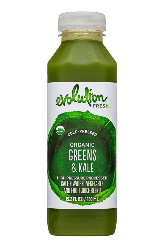 Evolution Fresh: EvolutionFresh-15oz-ColdPressed-GreensKale-Front