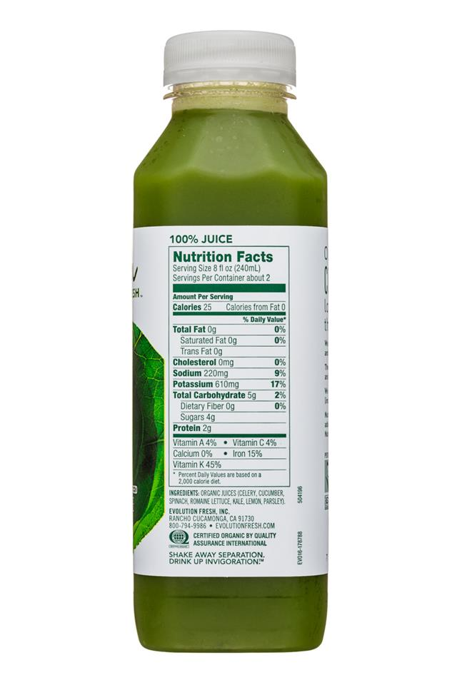 Evolution Fresh: EvolutionFresh-15oz-ColdPressed-GreensKale-Facts