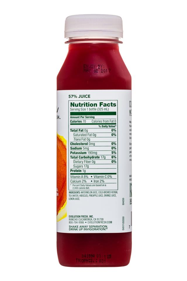 Evolution Fresh: EvolutionFresh-11oz-Cooler-TropicalHibiscus-Facts