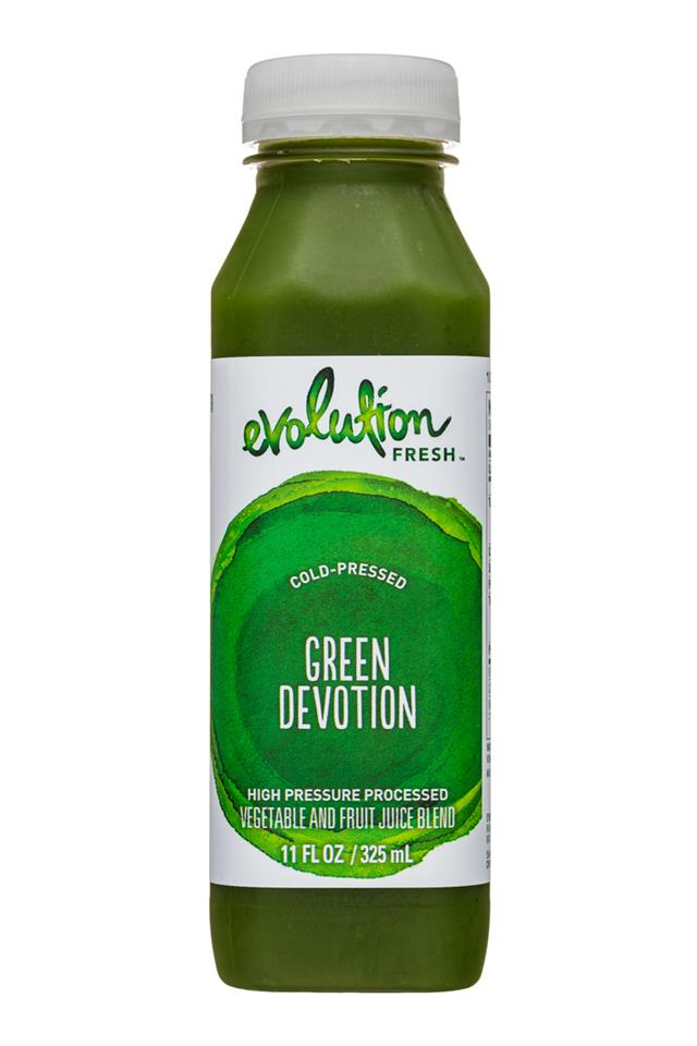Evolution Fresh: EvolutionFresh-11oz-ColdPressed-GreenDevotions-Front