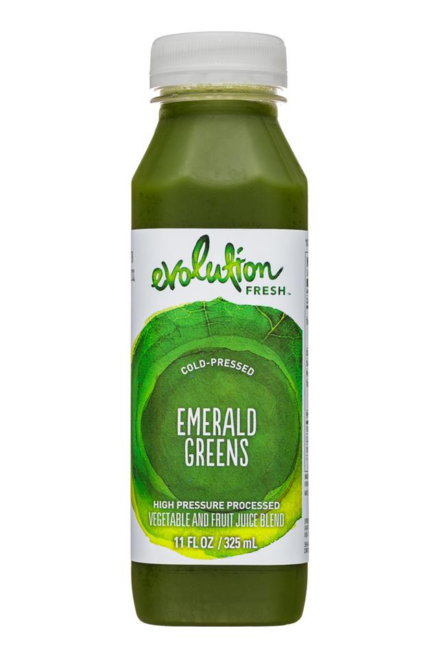 Evolution Fresh: EvolutionFresh-11oz-ColdPressed-EmeraldGreens-Front