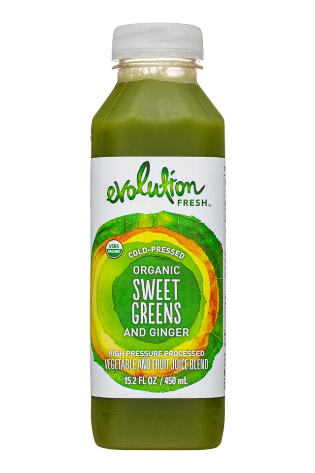 Evolution Fresh: EvolutionFresh-15oz-ColdPressed-SweetGreensGinger-Front