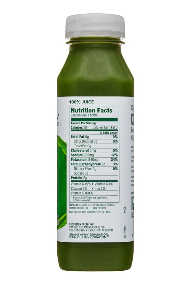 Evolution Fresh: EvolutionFresh-11oz-ColdPressed-GreenDevotions-Facts