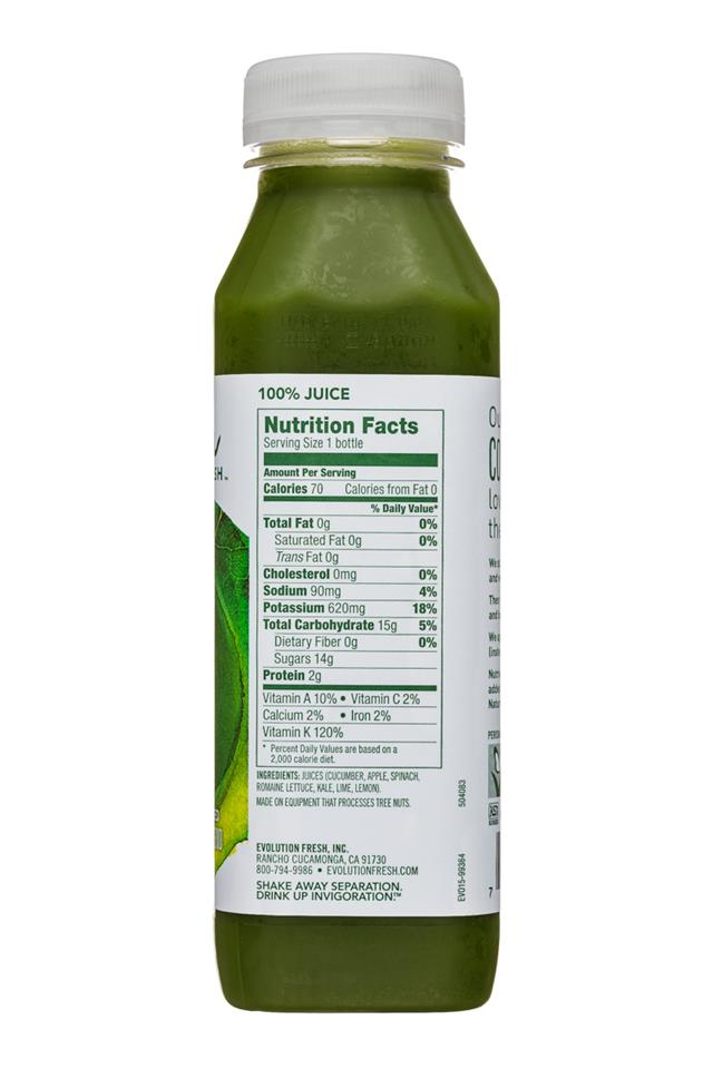 Evolution Fresh: EvolutionFresh-11oz-ColdPressed-EmeraldGreens-Facts
