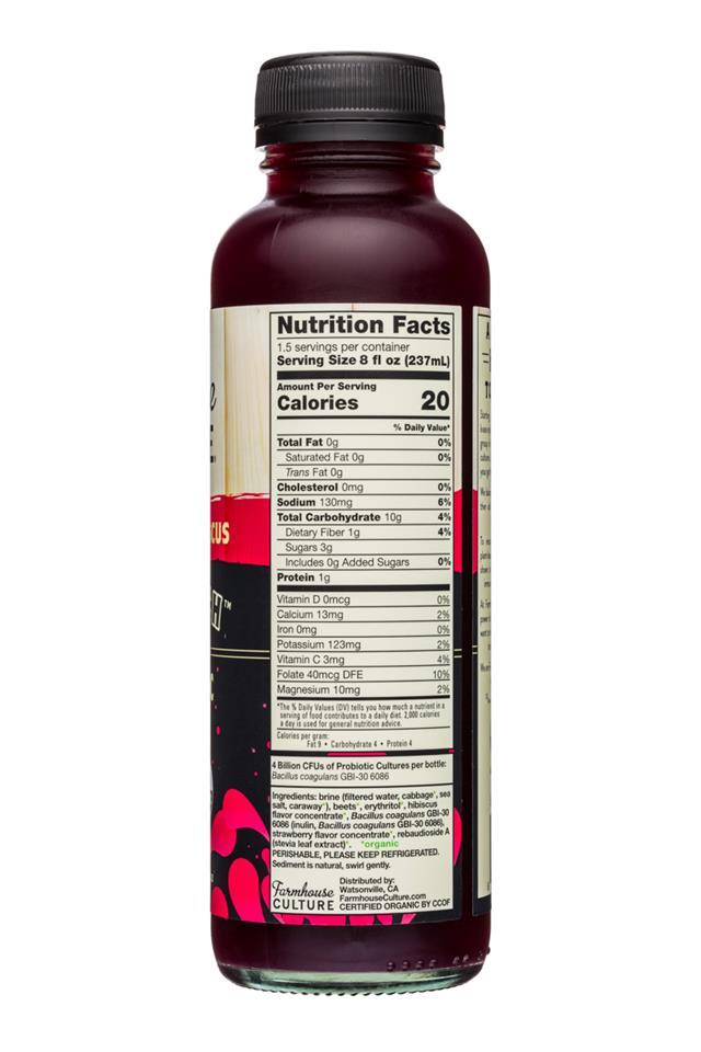 Farmhouse Culture Gut Punch: FarmhouseCulture-12oz-GutPunch-SparklingProbiotic-StrawberryHibiscus-Facts