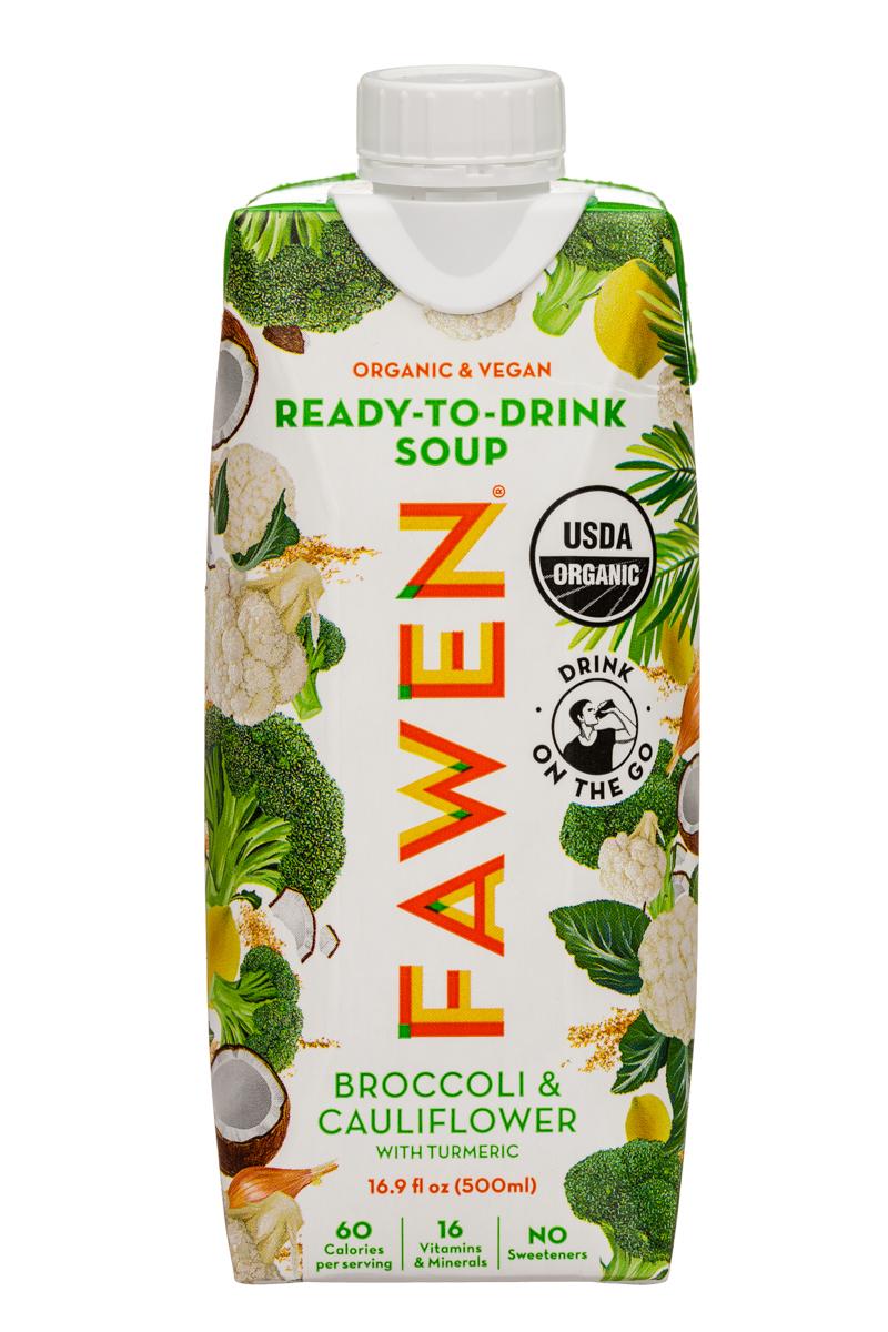Fawen: Fawen-17oz-RTDSoup-BroccoliCauliflower-Front