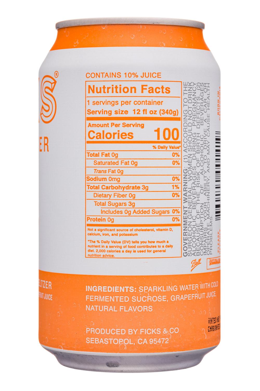Ficks : Ficks-12oz-HardSeltzer-Grapefruit-Facts
