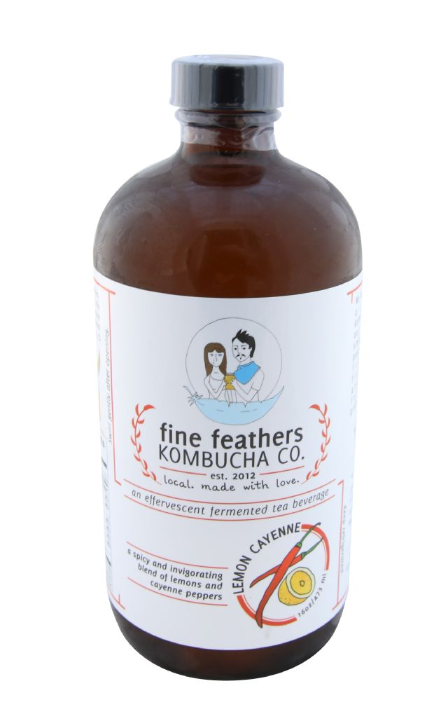Fine Feathers Kombucha: FineFeathersKombucha_front