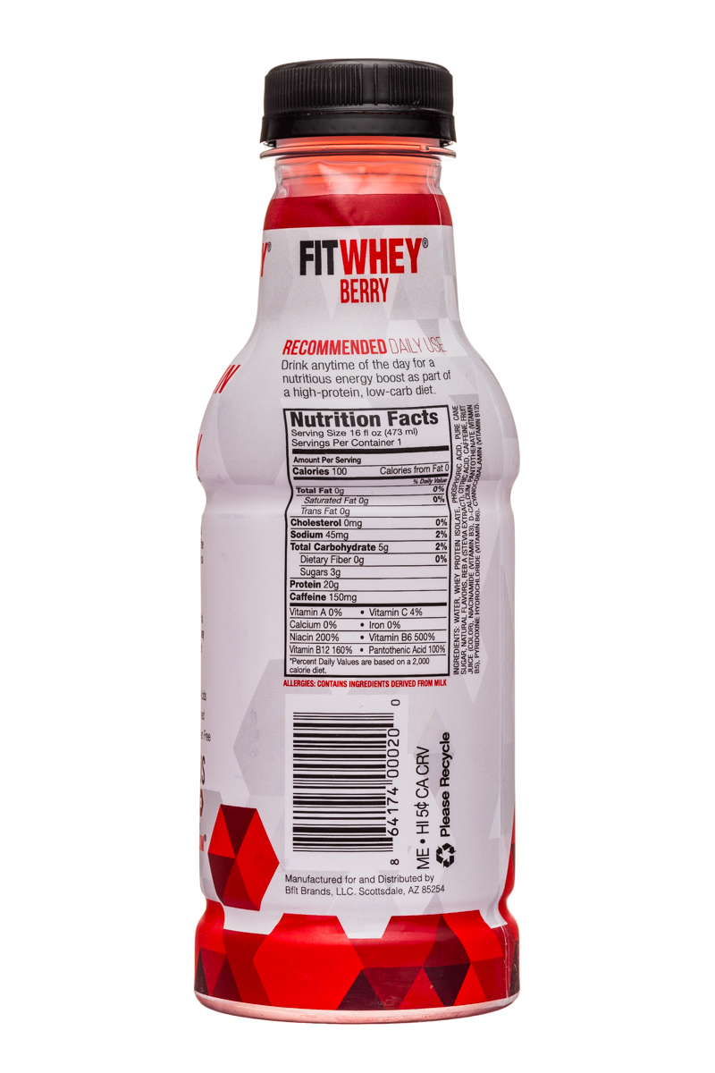 Fitwhey: FitWhey-16oz-Berry-Facts