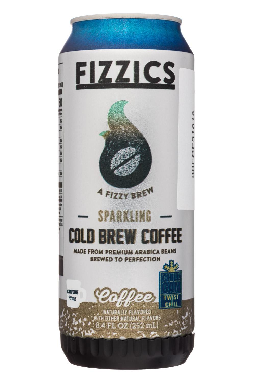 Fizzics Sparkling Cold Brew Coffee: Fizzics-8oz-SparklingColdBrew-Coffee-Front