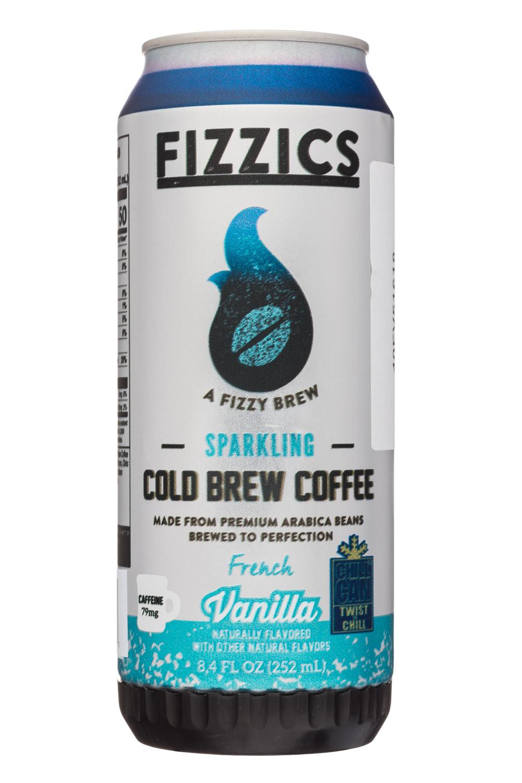 Fizzics Sparkling Cold Brew Coffee: Fizzics-8oz-SparklingColdBrew-Vanilla-Front