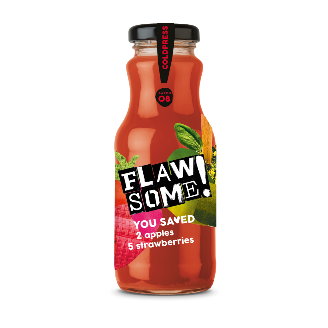 Flawsome! Apple & Strawberry - Cold Pressed Juice