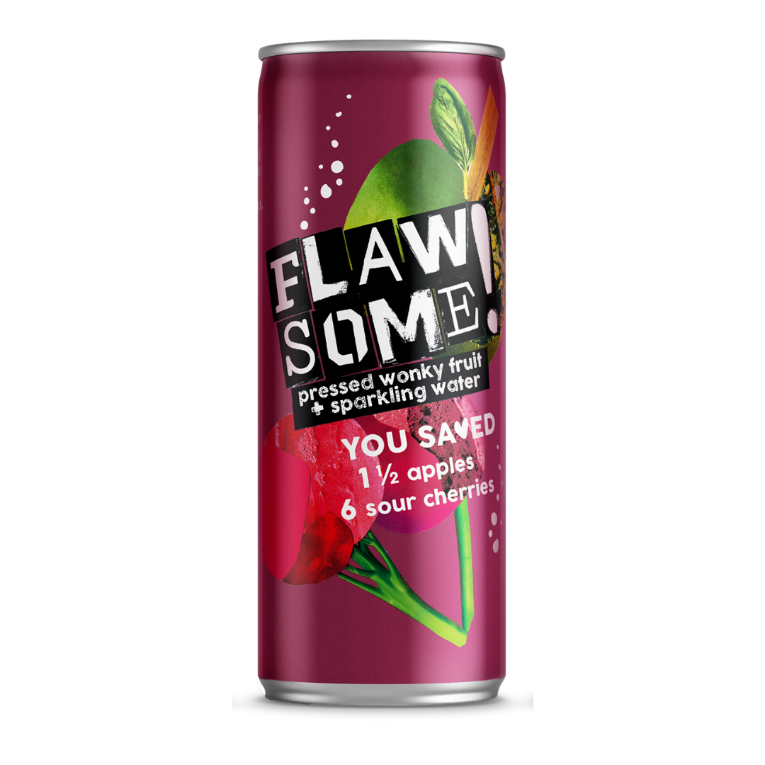 Flawsome!: Photo of Flawsome! Apple & Sour Cherry - Lightly Sparkling Juice - Flawsome! (uploaded by company)