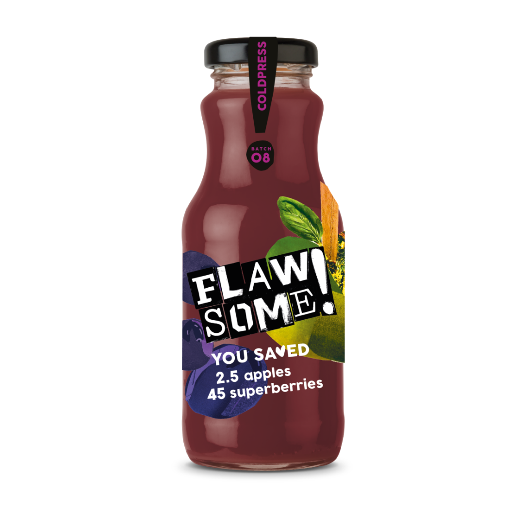 Flawsome!: Photo of Flawsome! Apple & Superberry - Cold Pressed Juice - Flawsome! (uploaded by company)