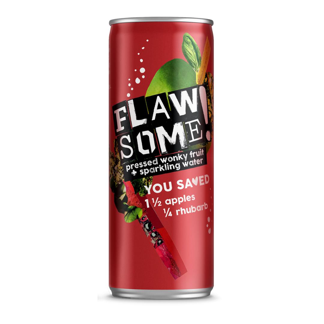 Flawsome!: Photo of Flawsome! Apple & Rhubarb - Lightly Sparkling Juice - Flawsome! (uploaded by company)