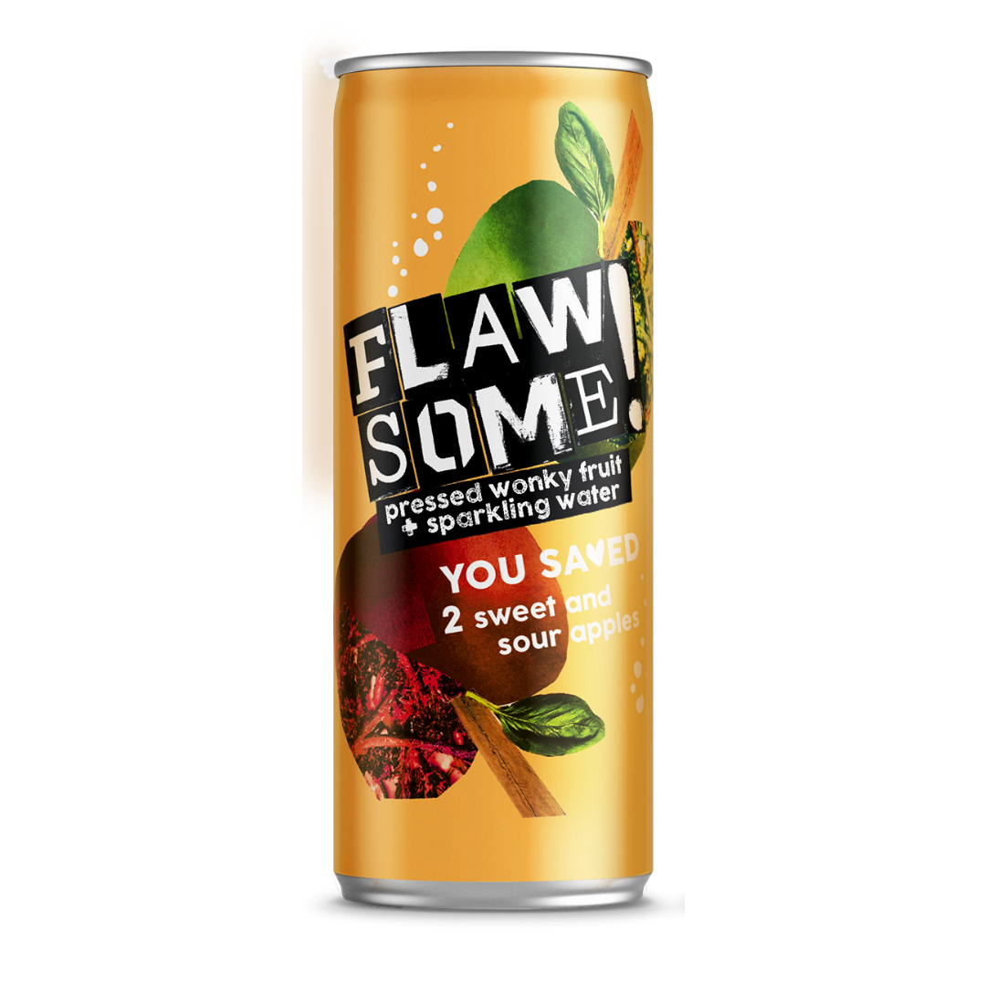 Flawsome!: Photo of Flawsome! Sweet & Sour Apple - Lightly Sparkling Juice - Flawsome! (uploaded by company)