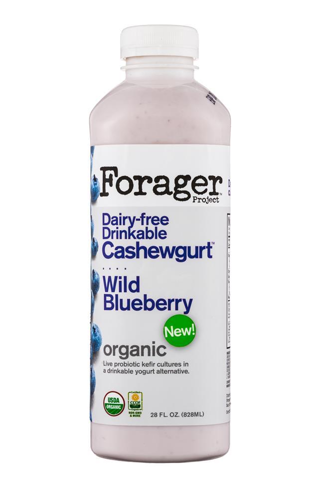 Forager Cashewgurt: ForagerProject-28oz-Cashewgurt-WildBlueberry-Front