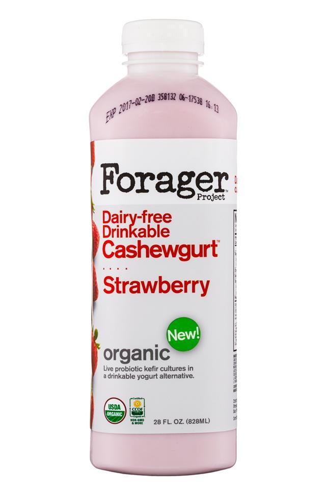 Forager Cashewgurt: ForagerProject-28oz-Cashewgurt-Strawberry-Front