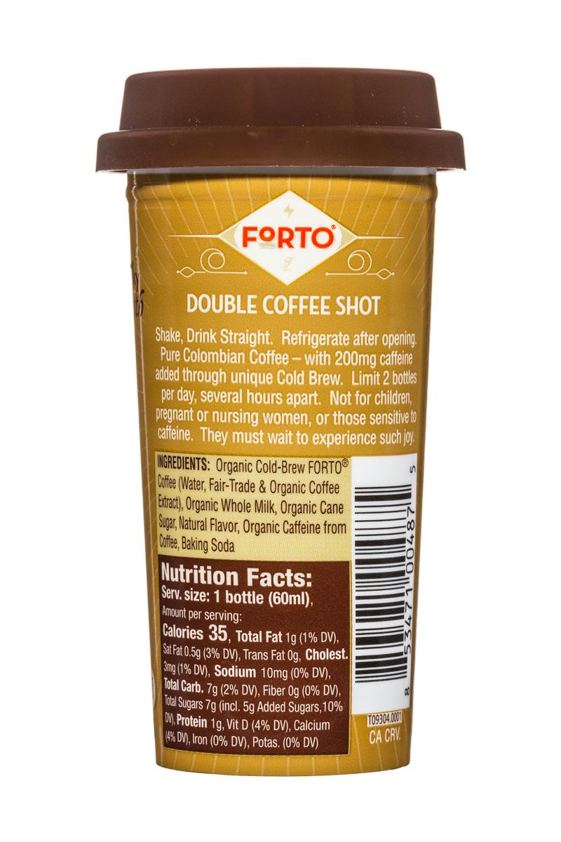 Forto Strong Coffee: Forto-ColdBrew-2oz-Shot-Vanilla-Facts