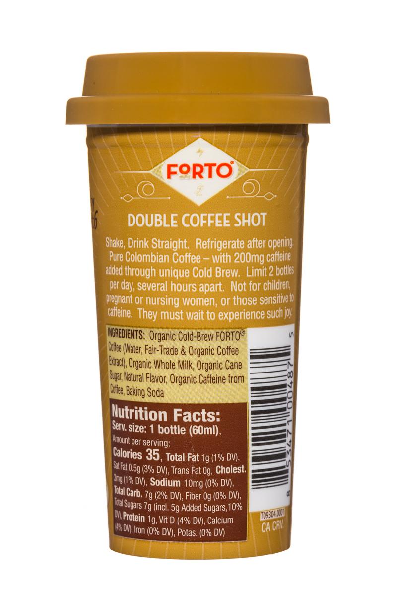 Forto Strong Coffee: Forto-Shot-2oz-Vanilla-OrganicMilk-V2-Facts