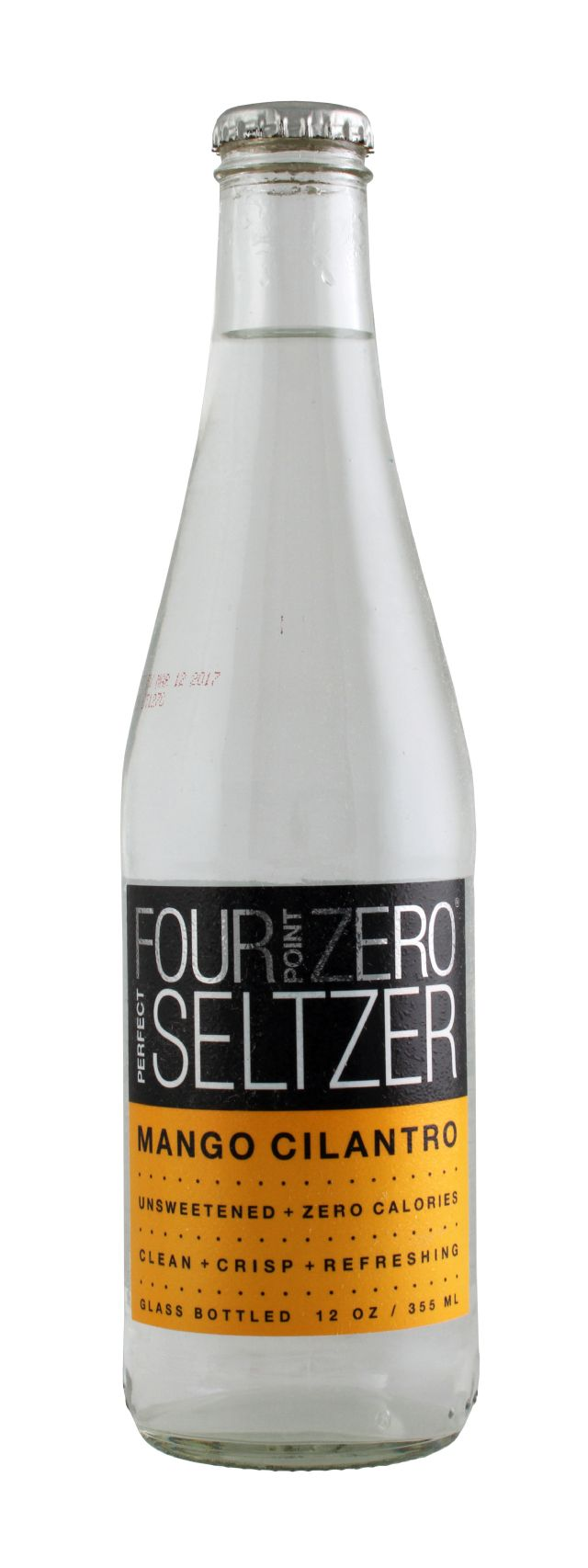 Four Point Zero Perfect Seltzer: FortPoint Mango Front