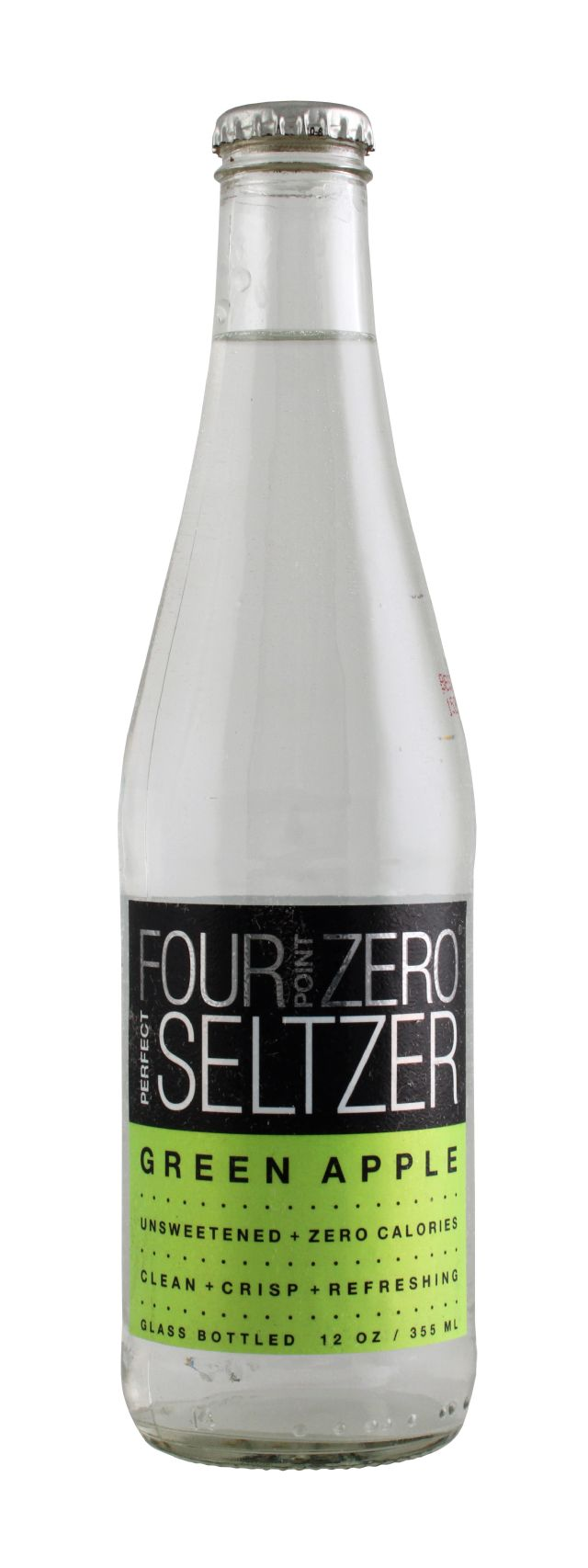 Four Point Zero Perfect Seltzer: FortPoint GreenApple Front