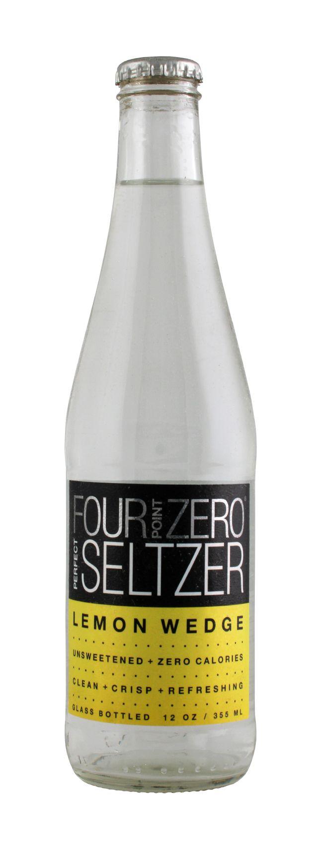 Four Point Zero Perfect Seltzer: FortPoint Lemon Front