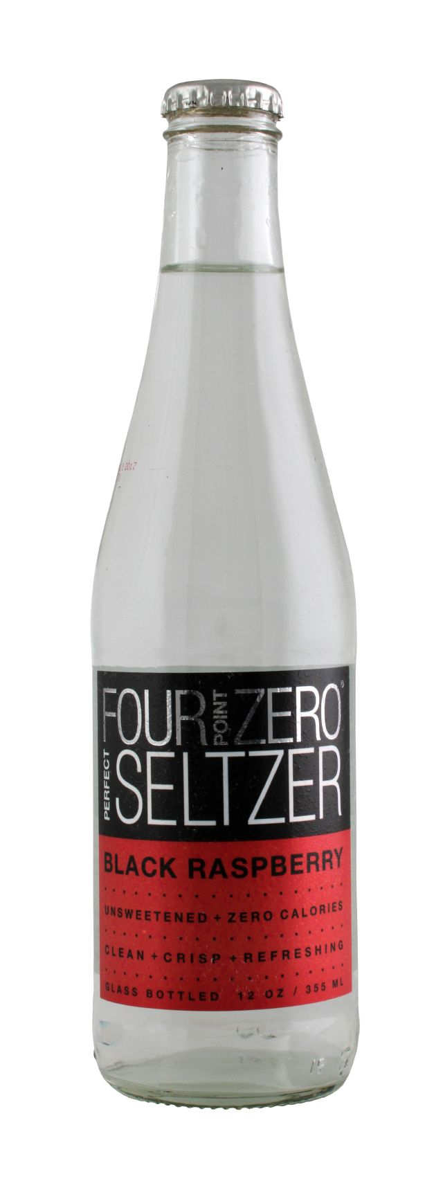 Four Point Zero Perfect Seltzer: FortPoint BlackRasp Front