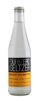 Four Point Zero Perfect Seltzer: FortPoint Mango Front