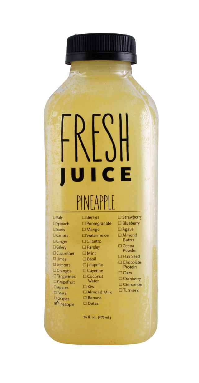 Fresh Juice (by Ripe Craft Juice): Ripe Pineapple Front
